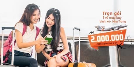 Trọn gói 3 vé Vinh - Nha Trang chỉ  từ 2,000,000đ (Đã gồm thuế phí)