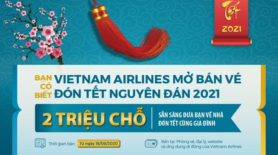 Vietnam Airlines mở bán vé máy bay Tết Tân Sửu 2021