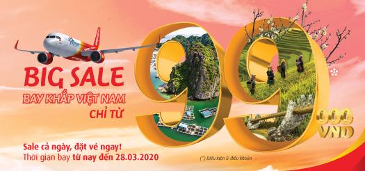BIG SALE Bay khắp Việt Nam chỉ từ 99.000VNĐ