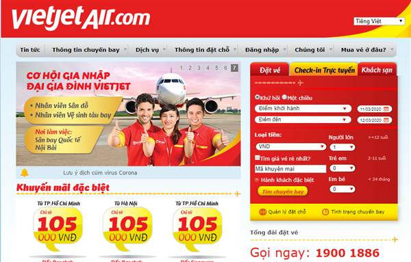 Check in Vietjet Air