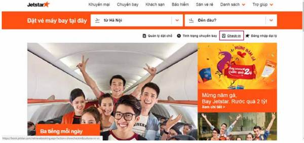Check in online Pacific Airlines