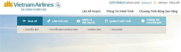 Check in truc tuyen vietnam airlines