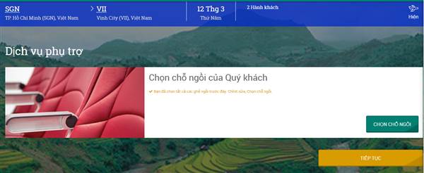 Check in Vietnam Airline - Dịch vụ phụ trợ