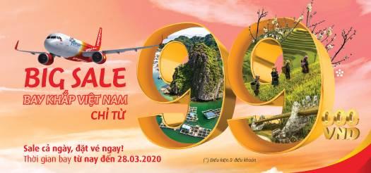 Big Sale - Bay khắp Việt Nam cùng Vietjet Air
