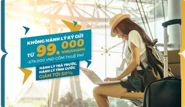 Vietnam Airlines Khuyến mãi 99,000đ không ký gửi