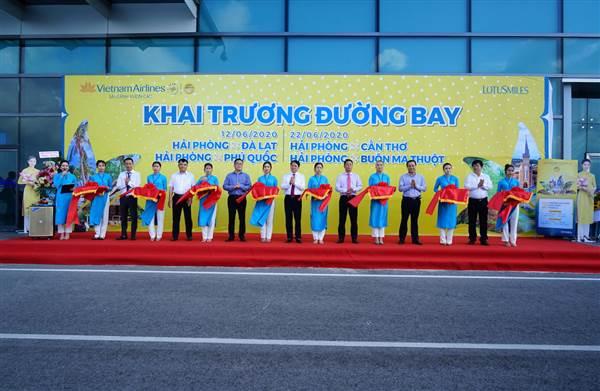 VNA khai trương 7 đường bay mới kết nối Vinh, Hải Phòng với các tỉnh, thành