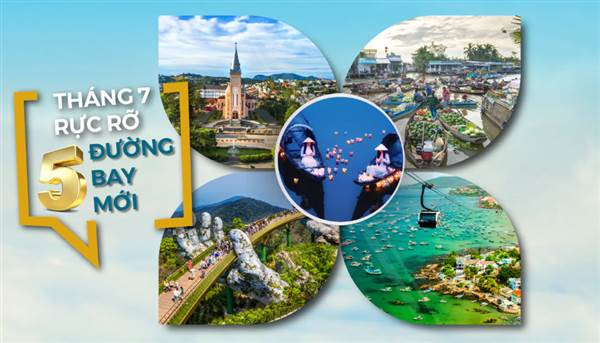 Vietnam Airlines mở thêm 5 đường bay mới trong tháng 7