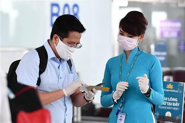 Khu vực làm thủ tục của các hãng thuộc VNA Group tại sân bay Nội Bài