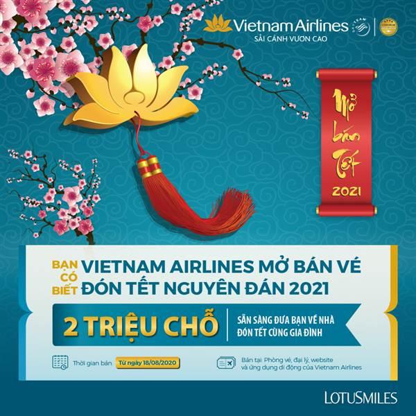 VNA Group mở bán vé Tết Tân Sửu 2021