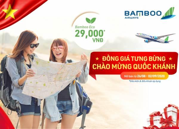 Bamboo Airways Đồng giá tưng bừng, chào mừng Quốc khánh!